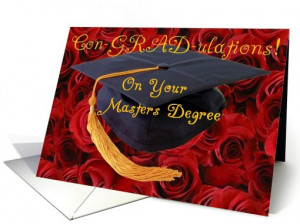 Con-GRAD-ulations! on your Masters Degree card (423251)