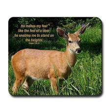 Deer Inspirational Mousepad for