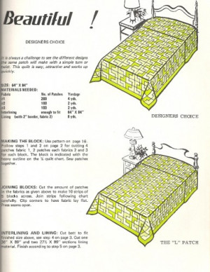 1974 Nifty Fifty Quilts Pattern Book Graphic Enterprises SC
