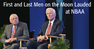 Neil Armstrong and Gene Cernan saluted at special event.