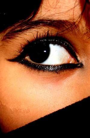 Eye of an arabic woman