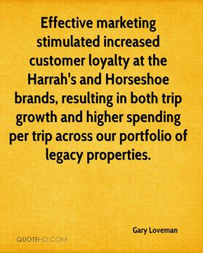 Effective marketing stimulated increased customer loyalty at the ...