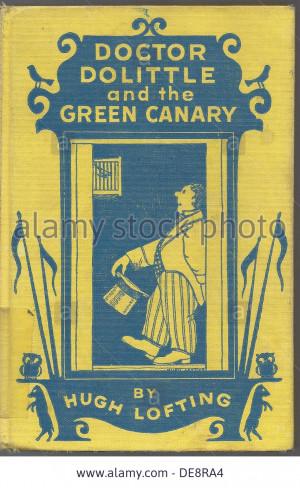 Green Canary by Hugh Lofting 1940s Artist Lofting Hugh 1886 1947