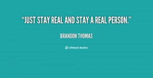 Just Be Real Quotes Preview quote