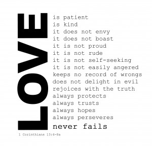 is Love? Can you define it? Well, 1 Corinthians 13:4-8 defines Love ...