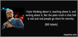 hate thinking about it, teaching about it, and writing about it. But ...