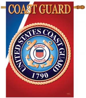 Coast Guard Sublimation House Banner