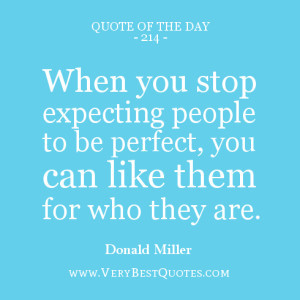 expecting people quote of the day