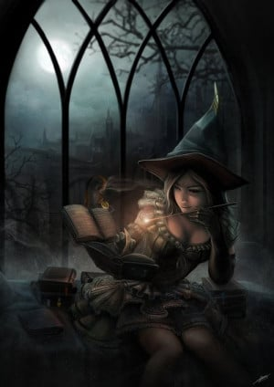 magic, painting, wiccan, witch