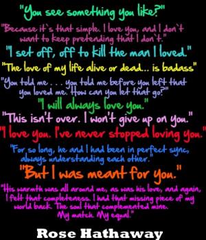 Vampire Academy Rose quotes
