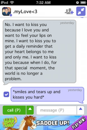 Want To Kiss You Quotes I want to kiss you