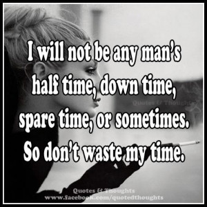 No time to waste
