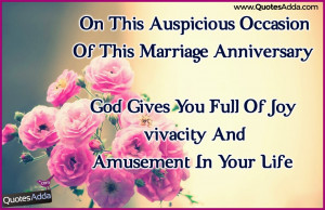Marriage Anniversary Quotes in English Language