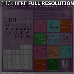 quotes, calendar quotes for each month, calendar quotes for each day ...
