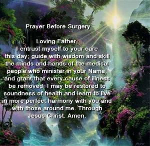 prayer for surgery