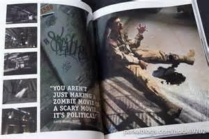 ... page containing a pull-quote from a member of the World War Z crew