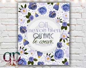 ... print, the little prince, le petit prince, french quote, french saying