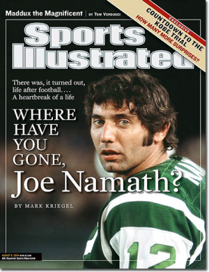 ... Seat NFL Quotes of the Day – Monday, April 8, 2013 – Joe Namath