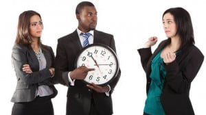... being tardy at least once a month, and 16 per cent are late once a