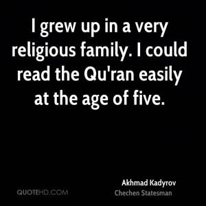 Akhmad Kadyrov Family Quotes