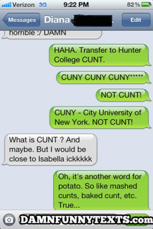 funny auto-correct texts - Explaining curse words to Germans