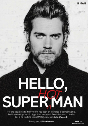 ohmyGAHH!! While the world awaits for Henry Cavill as the caped ...