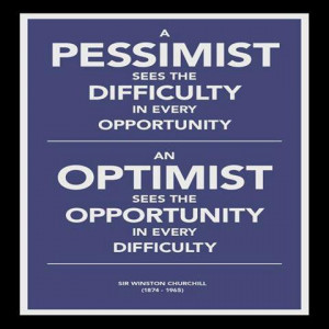 PESSIMIST AND OPPORTUNIST