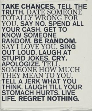 get to know someone random. be random.