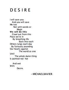 DESIRE Michael Xavier http://instagram.com/michaelxavierfans/# https ...
