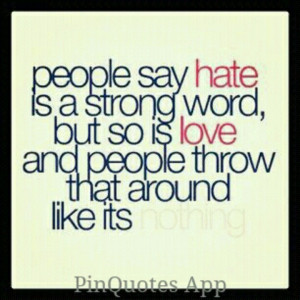 Love is a strong word...