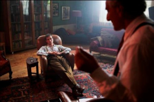 Ed Stoppard (left) stars as Alan Turing while Henry Goodman plays the ...
