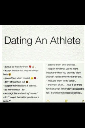 Cute Dating Quotes Dating an athlete