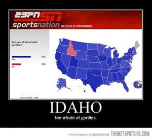 Funny photos funny US Map Idaho