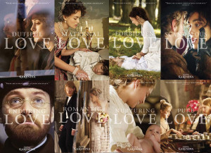 Eight LOVE postcard posters for Joe Wright's 'Anna Karenina'