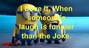 Minions friends laughter
