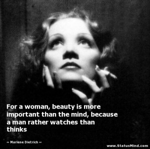 ... rather watches than thinks - Marlene Dietrich Quotes - StatusMind.com