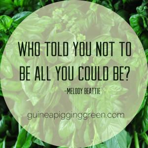 Melody Beattie Quote >> Guinea Pigging Green