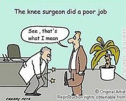 Funny Knee Operation