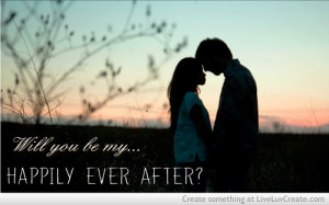 ... , happily, love, my happily ever after, pretty, quote, quotes, sunset