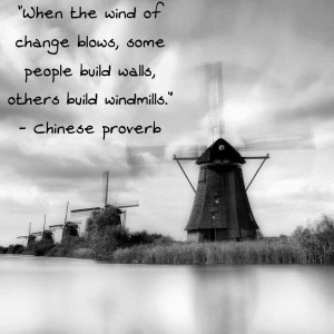 Build Windmills when life gets windy