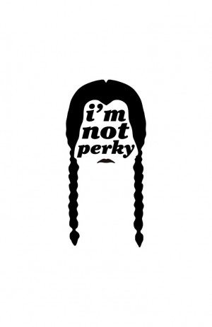 Wednesday Addams, would be a great graphic for my home office ...