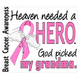... Art > Posters > Heaven Needed a Hero Breast Cancer Wall Art Poster