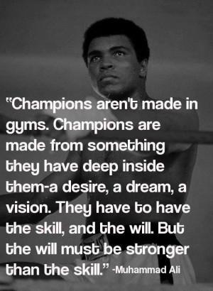 Ambition, drive, & determination