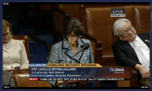 Rep. Mike Honda is seen dozing off on the House floor. (C-SPAN)