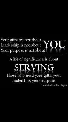 Servant leadership More