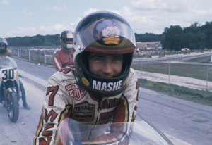 Barry Sheene tribute parade at British MotoGP race