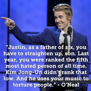 "... mejores insultos que recibió JB en ""The Roast of Justin Bieber"