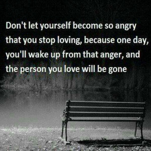 Don't become so angry