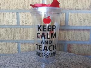 Kindergarten Teacher Gift - Keep Calm and Teach Kindergarten - Teacher ...