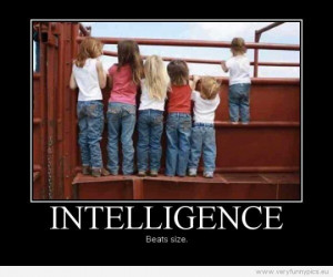 Funny Picture - Intelligence beats size